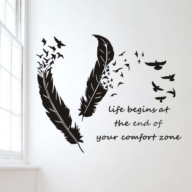 Comfort Zone Quotes Life Begins At The End Of Your Comfort Zone Quotes Wall Sticker  Comfort Zone Quotes