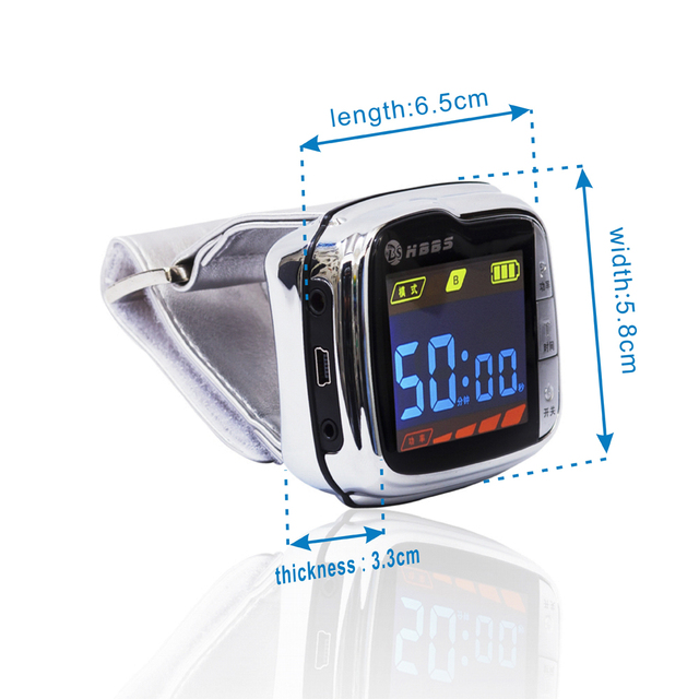 New  wrist type laser watch therapy instrument massager  cure cardiovascular and cerebrovascular diseases