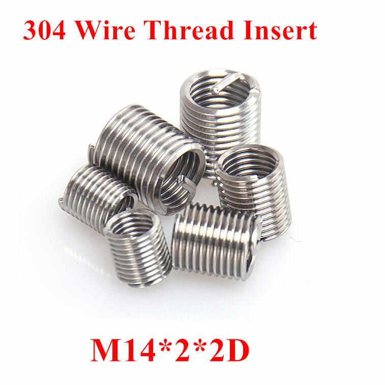 50pcs M3  M3*2D stainless steel wire thread insert