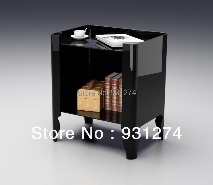 Acrylic night stands Bedside cabinet Coffee tables with magazine rack Living room furniture set Patio bedroom Office desk