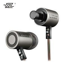100% Original KZ ED4 Auriculares de Metal Auriculares Con Aislamiento de Ruido de Alta Fidelidad de Música Auriculares fone de ouvido Para el iphone xiaomi samsug