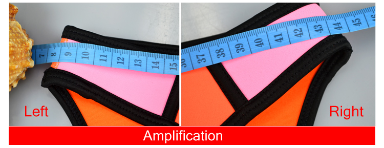 100% Neoprene HIGH QUALITY Removable push-up padding Shoulder belt patchwork Women bikini Neoprene Triangle Bikini set Bathsuit 5