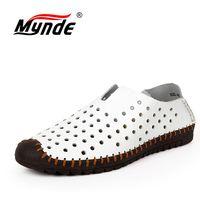 Mynde/Летняя удобная мужская повседневная обувь, лоферы, мужская обувь, качественная кожаная обувь, мужские мокасины на плоской подошве, разме...