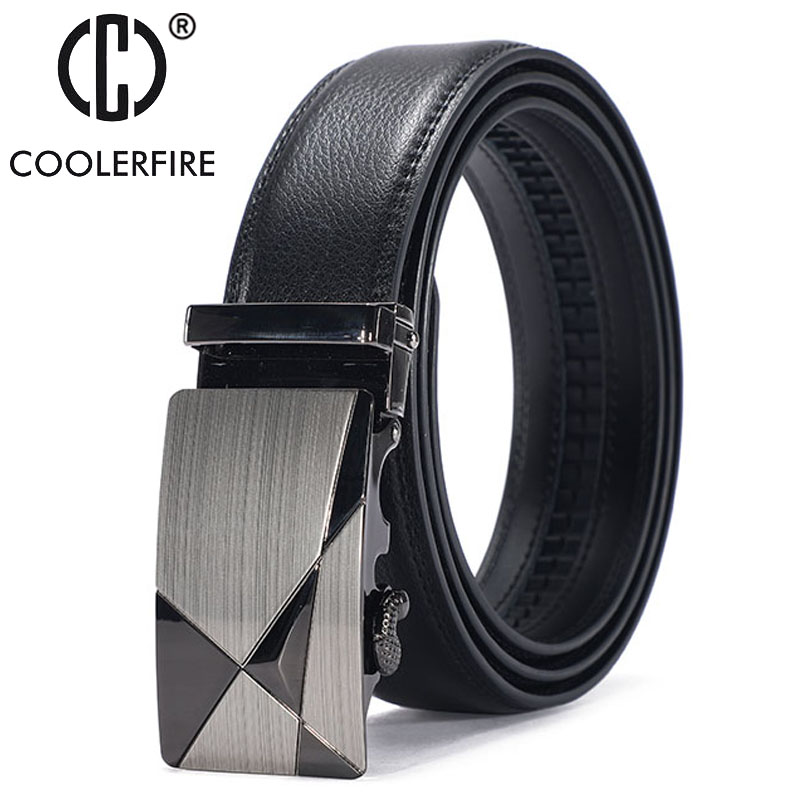 Famous Brand Belt Men Top Quality Genuine Luxury Leather Belts For Men,Strap Male Metal Automatic Buckle ZD080