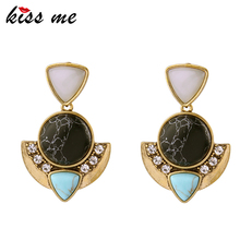 KISS ME Unique New Statement Earrings New Design Brand Women Jewelry Geometric Stud Earrings