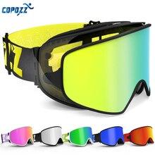 COPOZZ Occhiali Da Sci 2 in 1 con Magnetica A Duplice Uso Lente per la Notte di Sci Anti Fog UV400 Snowboard occhiali Degli Uomini Delle Donne di Sci Occhiali