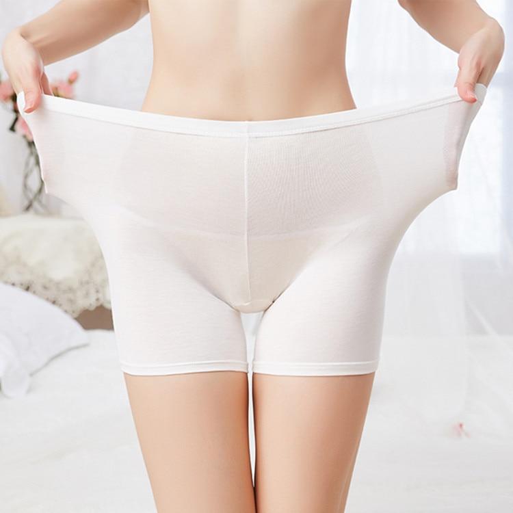Big Size Women Underwear Safety Short Pants Mid Waist Lace Shorts Elastic dress panty Soft Comfortable breathable modal