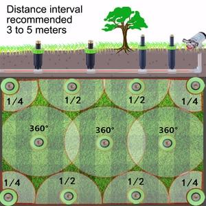 "Image 4 - 90 360 Degree Pop up Sprinklers Plastic Lawn Watering Sprinkler Head Adjustable Garden Spray Nozzle 1/2"" Female Thread 1 Pc"