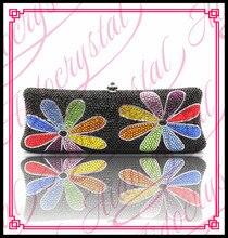 Aidocrystal Luxus Handgefertigte Kristall Blume Muster Damen Clutch Geldbörsen Hochzeit Taschen fabrik maßgeschneiderte