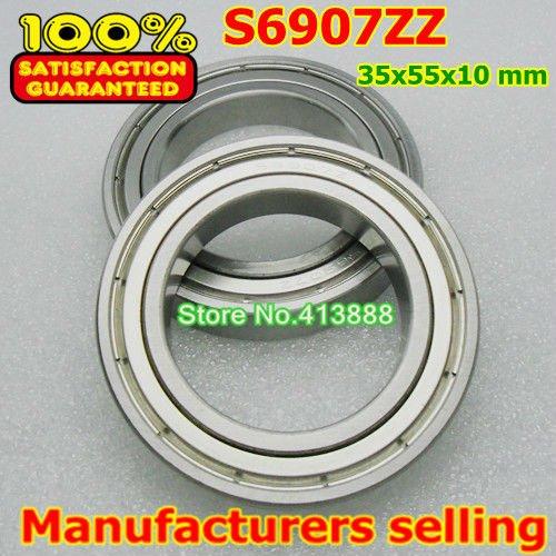 Высокое качество нержавеющая сталь подшипника SS6907ZZ S6907-2Z 6907 S6907 S6907Z S6907ZZ S61907ZZ 35*55*10 мм 440C материал