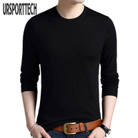 Solid Color Pullover Men O Neck Sweater Men Long Sleeve Shirt Mens Sweaters Wool Casual Brand