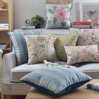Miejscowości kwiaty poduszka Retro kwiatowy poduszka poszewka na pościel rzuć poszewka na poduszkę dekoracyjna sofa do domu poduszki