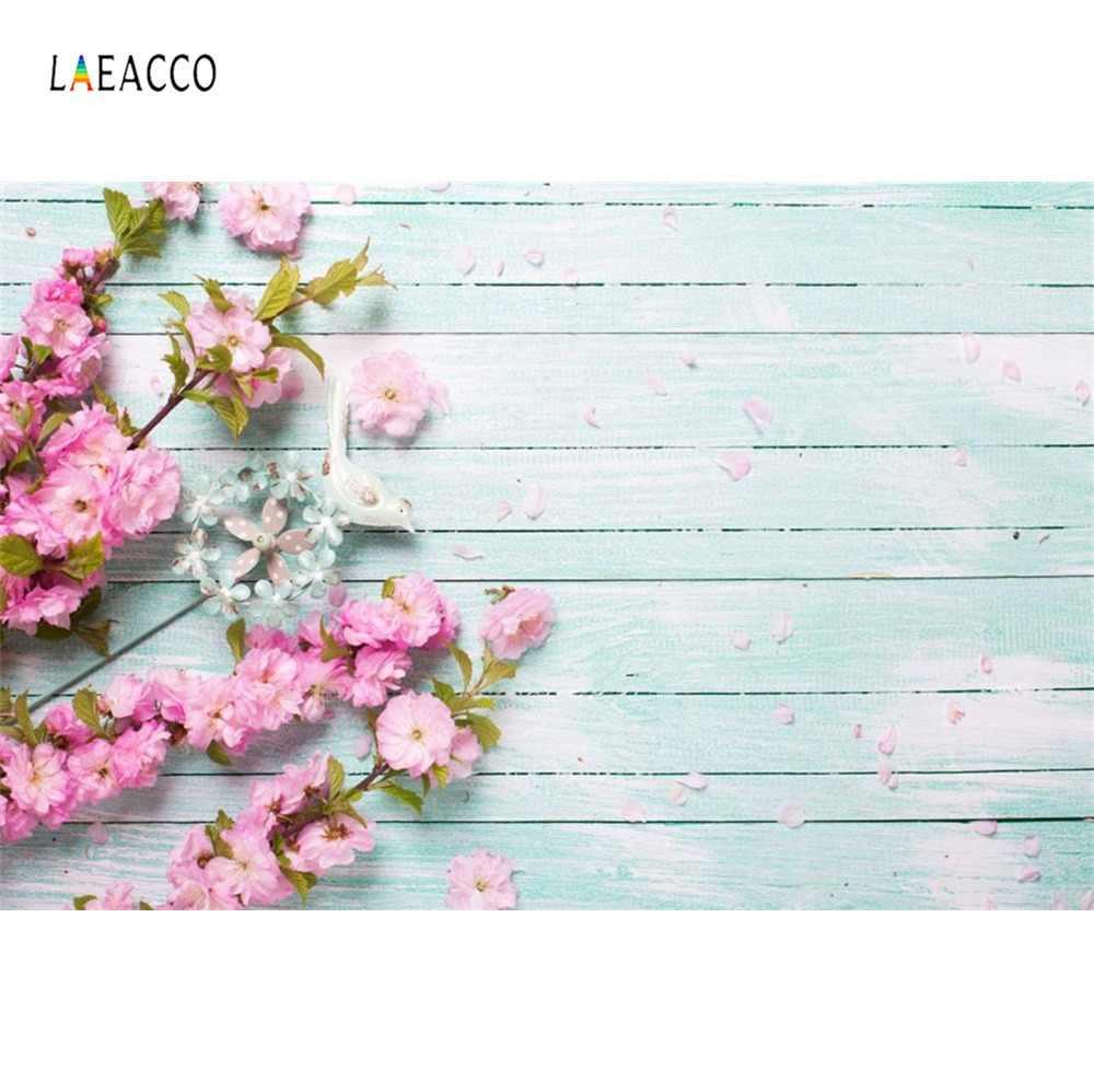 Laeacco tableau en bois gris fleurs Floret pétale nourriture pour animaux poupée Portrait photographie arrière-plans Photo décors pour Studio Photo