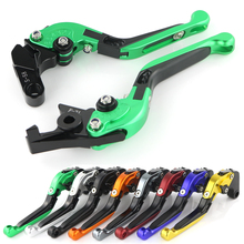 цена на For Kawasaki Ninja 400R W800 ER-6N ER-6F ZX9R ZX-6R ZX6R ZR750 Zephyr ZR7/S Z750/S CNC Foldable Adjustable Brake Clutch Levers