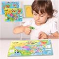 Wooden Magnetic Puzzle Toys World China Geography Map Shapes Jigsaw Children Baby Kids Intelligence Educational Toys