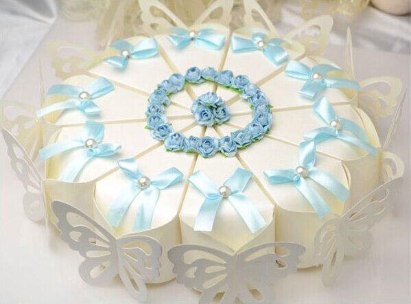 Aliexpress buy 50 pcs creative sweet butterfly white cake 50 pcs creative sweet butterfly white cake candy boxes with sky blue purple flower bowknot mightylinksfo