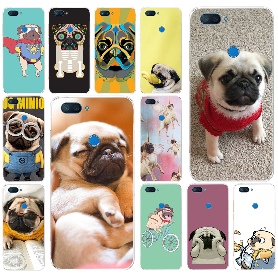 275FG <font><b>Pug</b></font> Dog Soft Silicone Tpu <font><b>Cover</b></font> phone Case for <font><b>xiaomi</b></font> redmi <font><b>mi</b></font> 8 A1 <font><b>A2</b></font> lite image