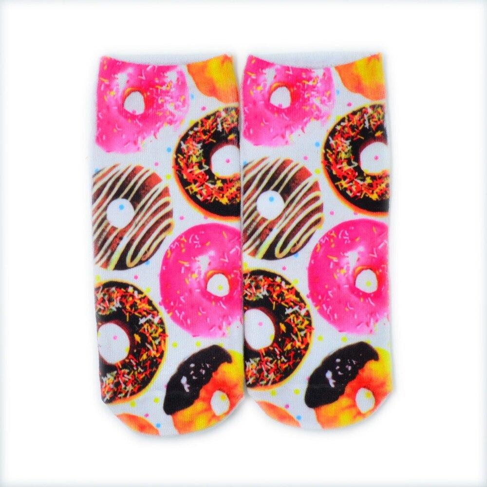 Free Shipping 1 Pair Boy Girl s 3D Print Cute Candy font b Foods b font