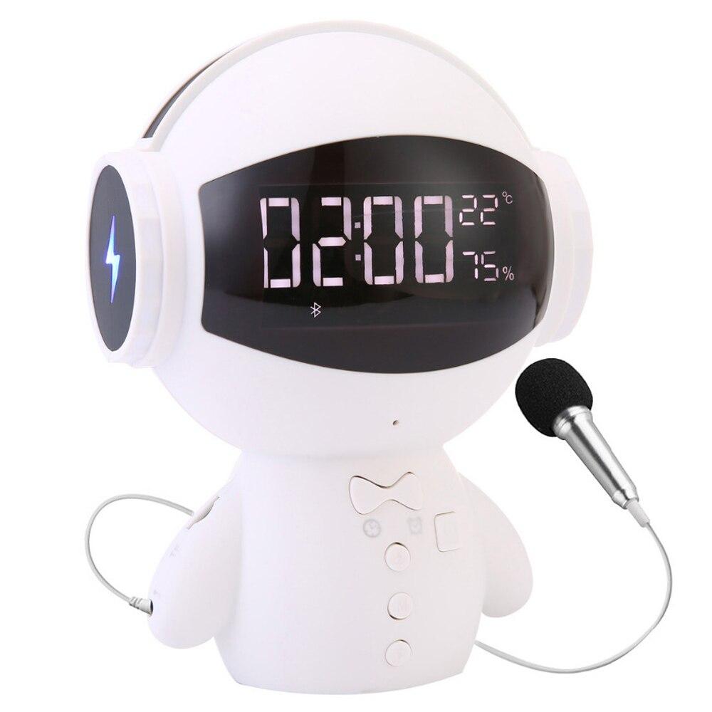 Mini-Robot intelligent Bluetooth BT haut-parleur intelligent-robot mignon Portable bt-chaise soutien appel TF AUX batterie externe