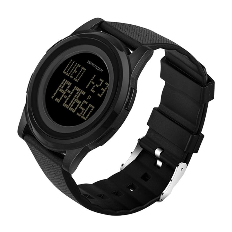 IsMyStore: 9mm Super Slim Sanda Sport Watch Men Brand Luxury Electronic LED Digital Wrist Watches For Men Male Clock Relogio Masculino