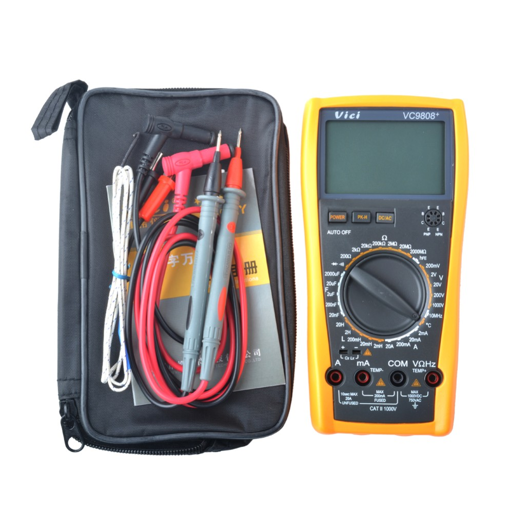 ФОТО VICI VICHY VC9808+ 3 1/2 Digital multimeter Electrical Meter Inductance Res Cap Freq Temp AC/DC Ohmmeter Inductance Tester