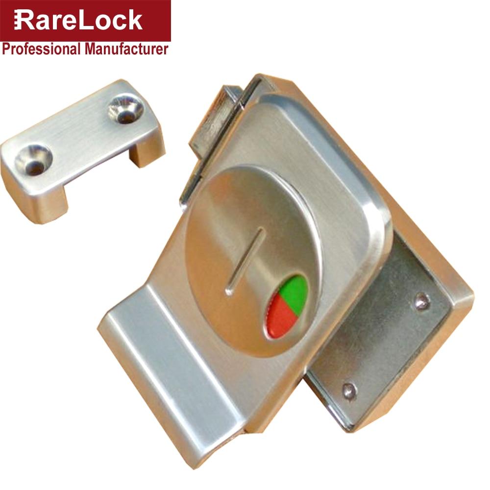 LHX AMMS Toilet Door Lock Hardware Square Zinc Alloy Simple Easy - Bathroom stall door latch