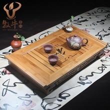 Бамбук чайный поднос и высокая — класс 49.5 * 30 * 8 кунг-фу чай логотипа полный заказ смешанные партии