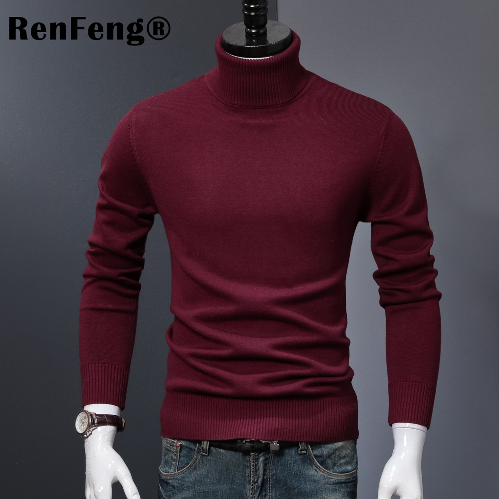 Winter Thick Warm Cashmere Sweater Men Turtleneck Mens Sweaters 2018 Slim Fit Pullover Men Classic Wool Knitwear Pull Homme (5)