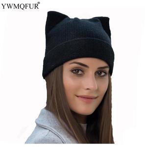 636ee682444 Winter Women Hats Knitted Warm Wool Ear Female Caps YWMQFUR