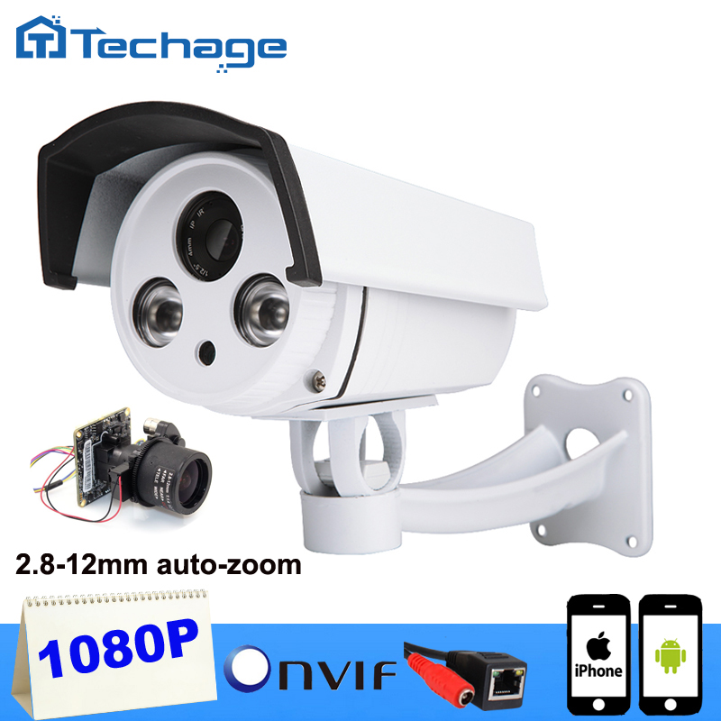 Techage HI3516C SONY IMX222 1080P IP Camera Auto Zoom 2 8 12mm Varifocal Lens 2MP Outdoor