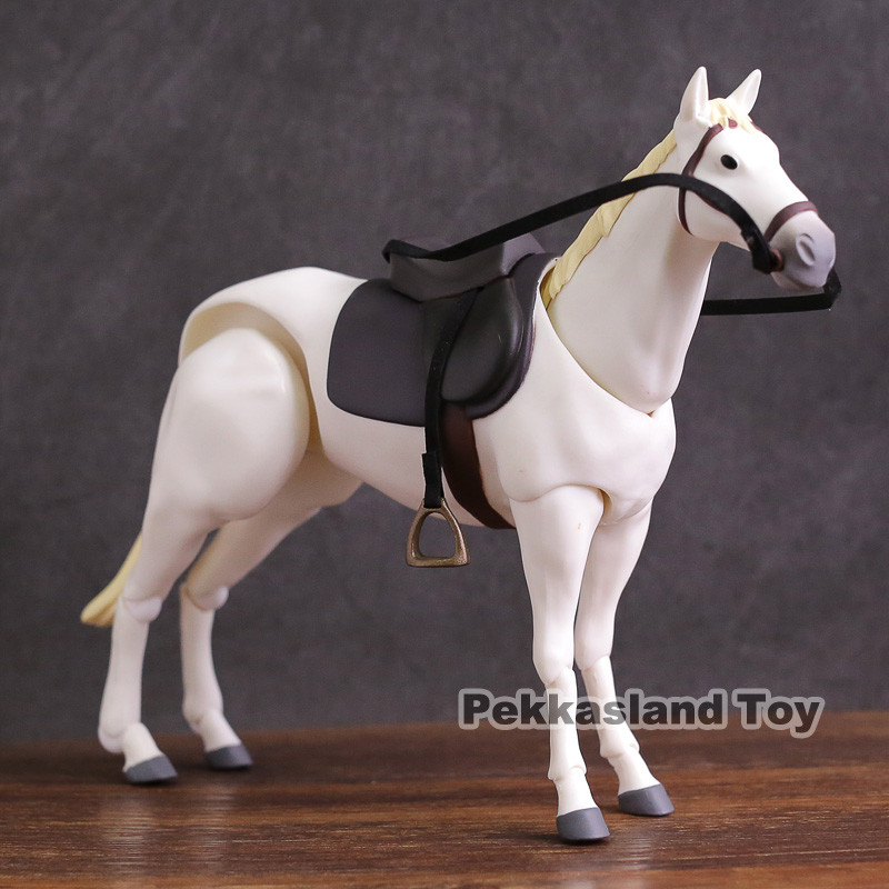 Figma 246a Horse Chestnut / Figma 246b Horse White PVC Action Figure Movable Toy