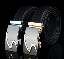 New Genuine Luxury Leather Belt Men's Leather S-shaped Automatic Buckle Business Casual Cowhide Belt High Quality lin ting han belt men s leather youth pants with men s automatic buckle leather korean casual business belt men s tide new