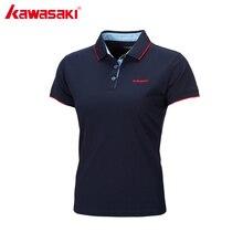 Kawasaki Brand Sport Polo Shirts for Women Ladies Tennis Polo T-Shirt Dry Fit Breathable Comfort Blue Sportswear ST-172027