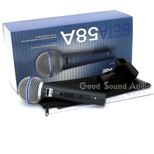 Version améliorée BETA58A Microphone Filaire Professionnel Dynamique Supercardioïde Karaoké Mic Vocal Beta 58A Sans/Off Mike