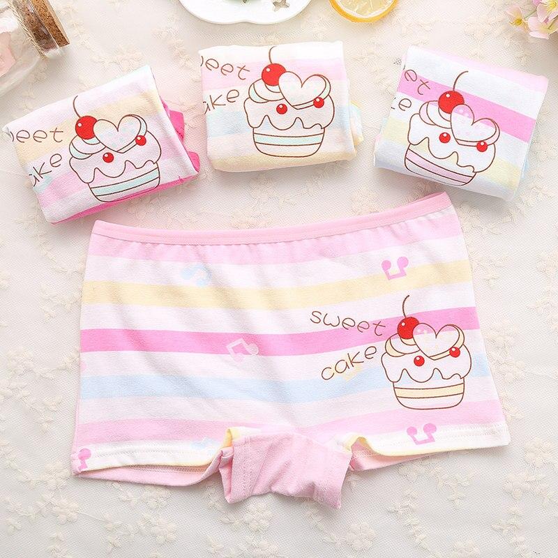4Pcs Cute Cotton Safe Girls Underwears Colorful Kids Baby Panties Childrens Underpants Girl Kid New Spring Girl Underwear