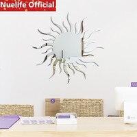30x30 см солнце-узорчатые зеркальные наклейки гостиная спальня Дети Детская комната офисный фон украшения наклейки на стену