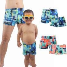 2018 New Kids Boy Men Printed Swimwear Shorts Parent-child Swimsuit Family Matching Swimming Trunks Cute Summer Clothing