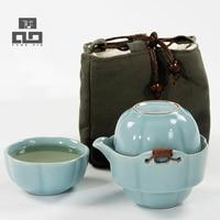 Conjuntos de chá de café cerâmica bule chaleira TANGPIN gaiwan xícara de chá teaSets kung fu portátil viagem jogo de chá chinês