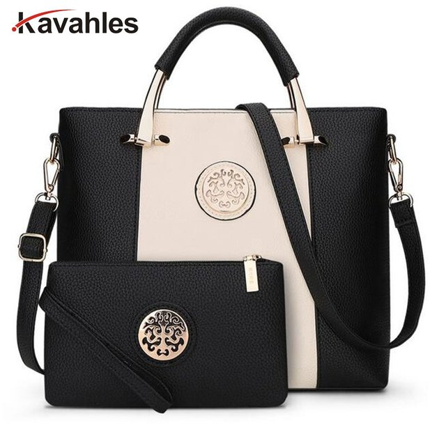 1dcb447b02a 2018 Luxury Women Bags Famous Brands Shoulder Bag Casual Tote Designer  Handbags and Purses bags female Business Set PP-832