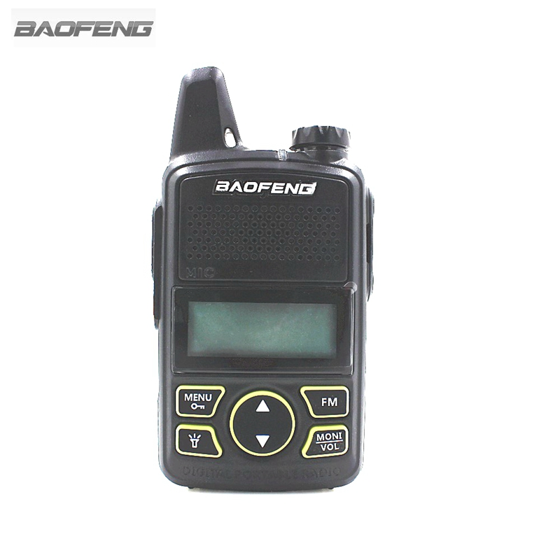 MINI BAOFENG BF-T1 Two Way Radio Portable Walkie Talkie UHF 400-470mhz 20CH Ham FM CB Radio Handheld Transceiver T1