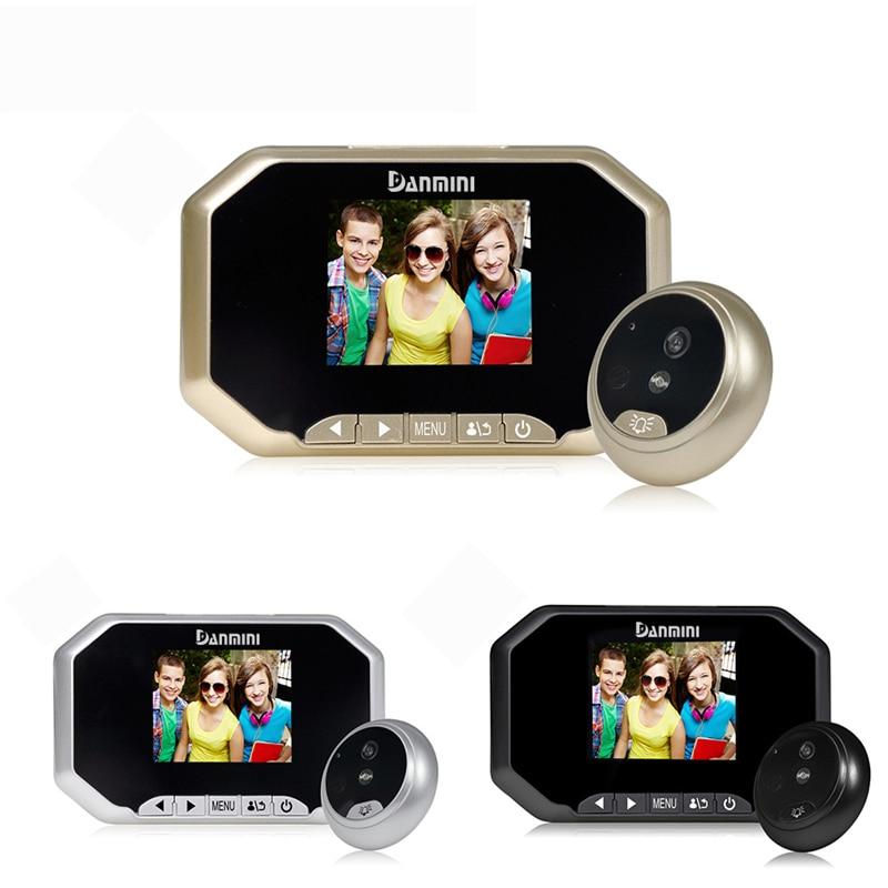 DANMINI 3.0inch Video Door Phone 2.0MP Video Doorbell Camera Night Vision 160 Degree Peephole Viewer Doorbell Security Camera цена