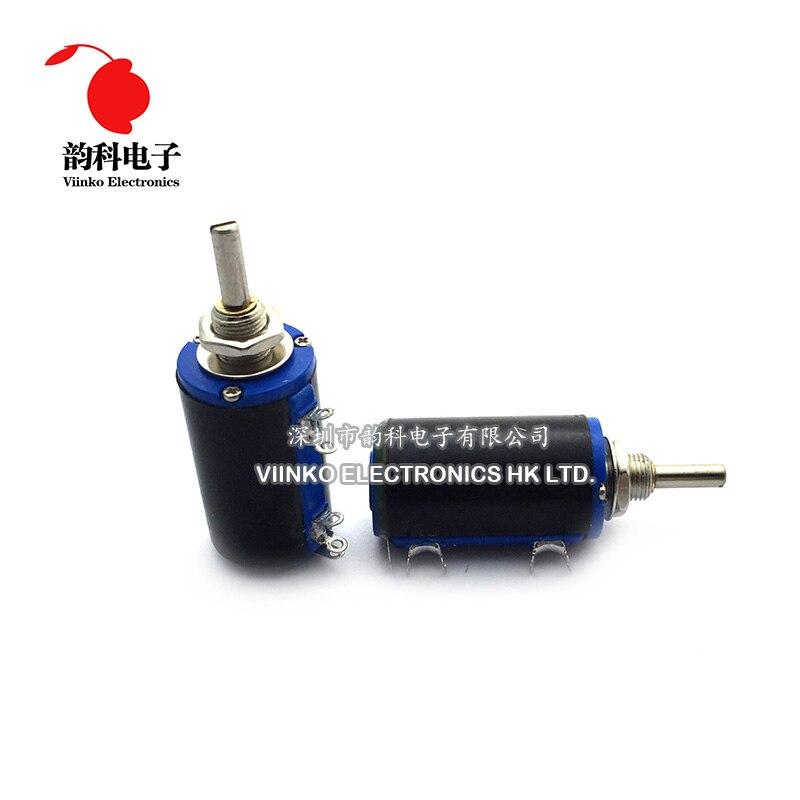 WXD3-13-2W WXD3 Precision Multiturn Potentiometer 100R-100K 47 10K Ohm Knobs Hat