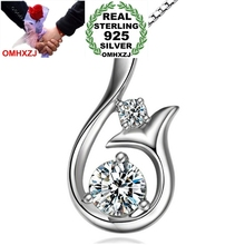 OMHXZJ Wholesale star jewelry mermaid woman girl Top AAA zircon drill 925 sterling silver NO Chain Necklace pendant Charms PE27