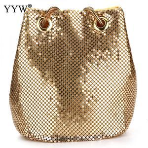 Image 5 - 여성을위한 패션 저녁 파티 클러치 버킷 가방 2019 긴 체인 숄더 백 슬리버 골드 지갑과 핸드백 여성 클러치