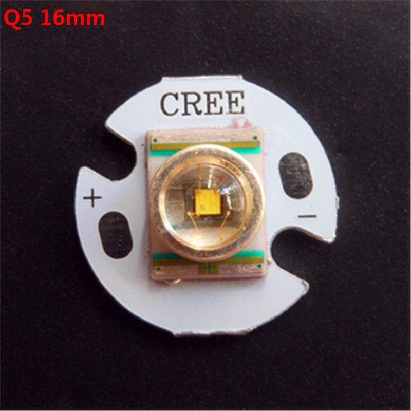 Высокое качество! 16 мм 20 мм CREE Q5 бусы СВЕТОДИОД бисера Излучатель/Лампы Для Фонарика DIY