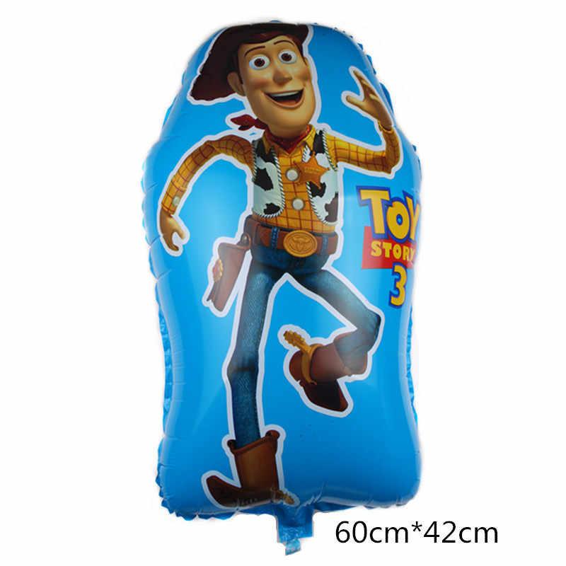 1Pcs Tamanho Grande Forma de Balão História Buzz Lightyear Brinquedo Decoração Do Partido Balões de Hélio Folha Para Festa de Aniversário Suprimentos