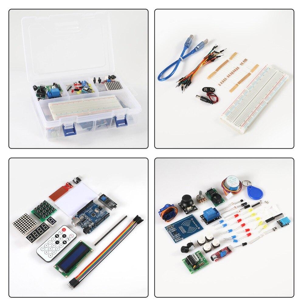 Kit de démarrage RFID pour Arduino UNO R3 version améliorée Suite d'apprentissage avec boîte de vente au détail pour kit arduino livraison gratuite