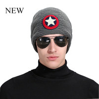 New Arrival Beanie Winter Hat Men Caps Knit Knitting Hats Fashion Keeping Warm Five Pointed Pattern