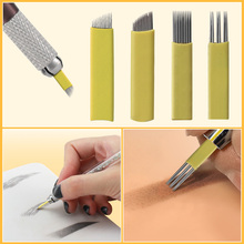 20pcs Microblading Tattoo Needles Eyebrow Supplier Accessorie Disposable Micro Blade for Permanent Makeup Manual Pen Tool