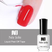 NEE JOLIE Peel Off Nail Liquid Tape Fruity Odor-free Antifreezing Cuticle Guard 7.5ml/3.5ml Art Care Tool for Polish